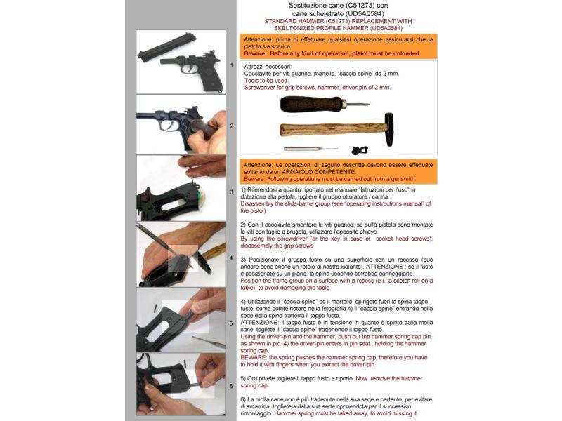 Completo kit pulizia pistola Tetra Gun calibro 357 8 9 40 41 10 44 45