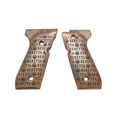 Wood grips set for 92 series - Logo Storm model Beretta