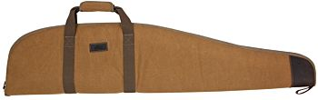 Rifle carrying case in Stone Washed fabric and leather. Radar