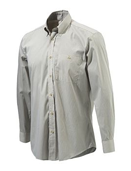 Beretta Button Down Shirt Beige Check Beretta