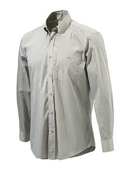 Beretta Button Down Shirt Beige Check Beretta