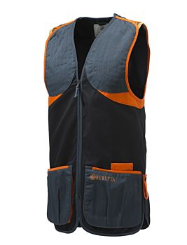 Beretta Full Cotton Vest Black & Orange Beretta