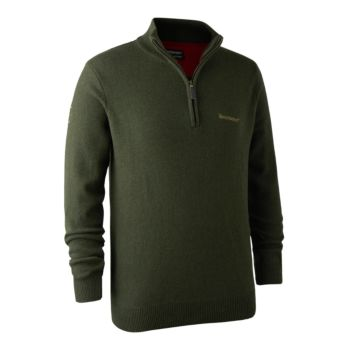 Hastings Knit Zip-neck Deerhunter