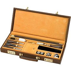 SHOT GUN CLEANING KIT HARD CASE  , INDIAN BUFFALO LEATHER Beretta