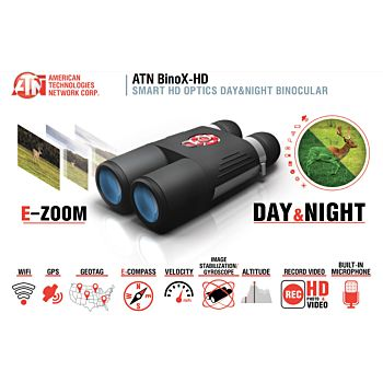 ATN BINO-X BINOCOLO DAY/NIGHT HD WI-FI , GPS - 4-16X  Atn