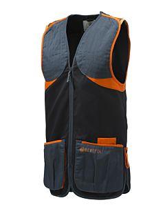 Beretta Full Cotton Vest Black & Orange Beretta